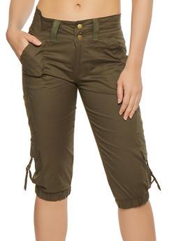Cargo Capri Pants - 1066038349209