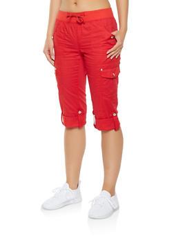 Cargo Capri Pants - 1066038349224
