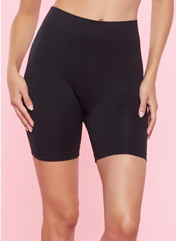 Solid Seamless Bike Shorts - 1068064871101