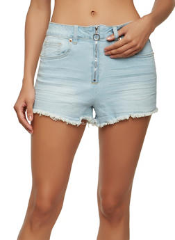 Almost Famous Ring Zip Denim Shorts - 1070015990034