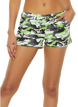 Almost Famous Denim Camo Dolphin Shorts - 1070015999865