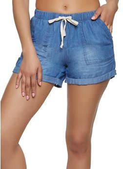 Womens Chambray Shorts