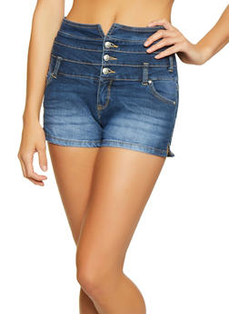 Highway 3 Button High Waisted Shorts - 1070071315100