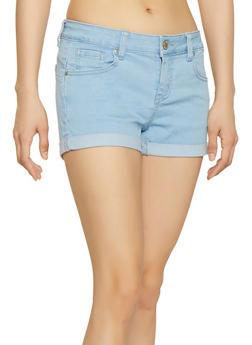 WAX Push Up Fixed Cuff Denim Shorts - 1070071610027