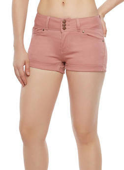 WAX 3 Button Burgundy Shorts - 1070071610097