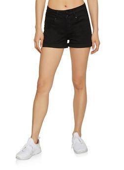 WAX 2 Button Jean Shorts - 1070071610155