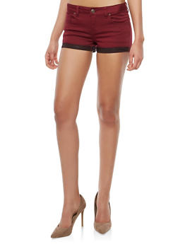 WAX Colored Push Up Denim Shorts - 1070071619126