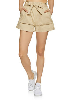 Tie Paper Bag Waist Shorts - 1070072290020