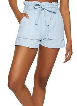 Tie Paper Bag Waist Shorts - 1070072290020