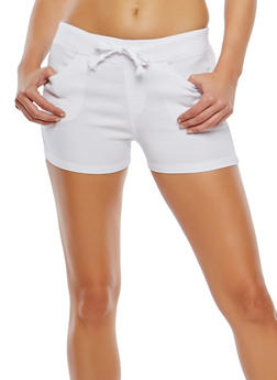 Stretch Drawstring Waist Shorts - 1070072291190