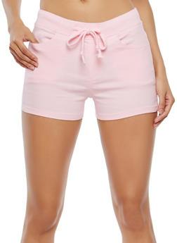 Stretch Drawstring Waist Shorts - 1070072291190