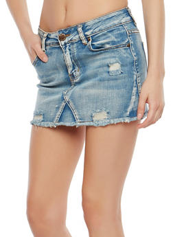 VIP Denim Mini Skirt - 1071065300646