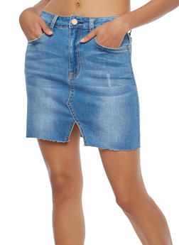 Denim Mini Skirt - 1071069397121