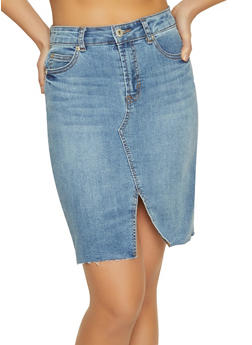 Highway Denim Pencil Skirt - 1071071313575