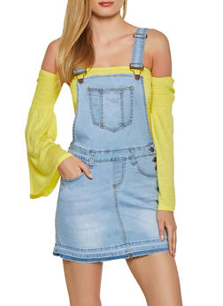 Denim Overall Dress - 1071072290001