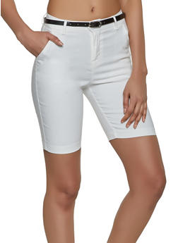 Belted Bermuda Shorts - 1072056574081