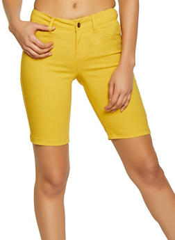 Push Up Stretch Bermuda Shorts - 1072056576991