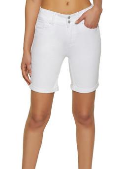 WAX Push Up Denim Bermuda Shorts - 1072071619662