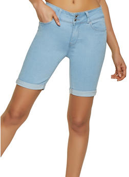 WAX Push Up Denim Bermuda Shorts - 1072071619662