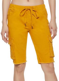 Frayed Cargo Bermuda Shorts - 1072072290005