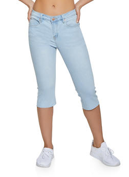 Almost Famous Raw Cut Capri Jeans - 1073015990054