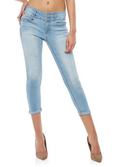 WAX 2 Button Push Up Skinny Jeans - 1073071619097