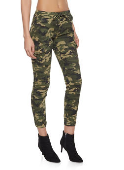 Camo Cargo Joggers - OLIVE - 1074015990004