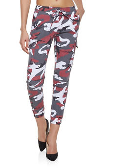 Camo Cargo Joggers - RED - 1074015990004