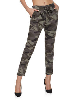 Tie Front Camo Trousers - 1074015990058