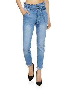 Almost Famous Paper Bag Waist Jeans - 1074015990241