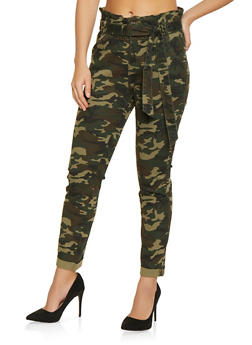 Almost Famous Belted Camo Jeans - 1074015991858
