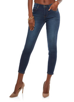 Almost Famous Cropped Whisker Wash Skinny Jeans - 1074015995515