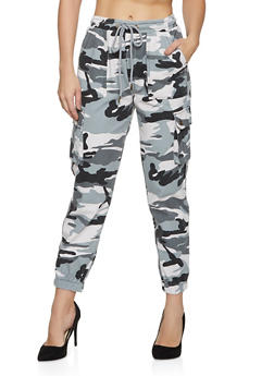 Colored Camo Cargo Joggers - 1074038206009