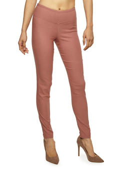 Side Seam Solid Push Up Jeggings - 1074056571811
