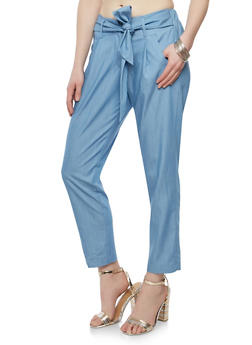 Belted Dress Pants - 1074056572212