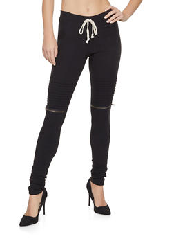 Ruched Moto Jeggings - 1074056572247