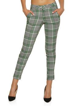 Plaid Stretch Dress Pants - 1074056573317