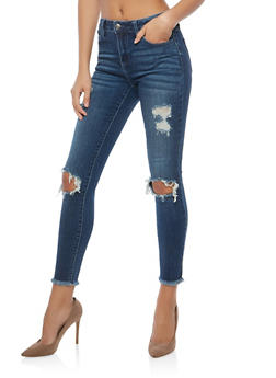 Cello Ripped Frayed Hem Jeans - 1074063150926