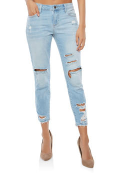 Cello Destroyed Cropped Skinny Jeans - 1074063154242