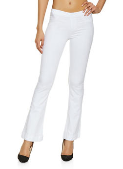 Cello Pull On Flared Jeans | White - 1074063155324