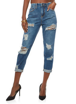 Cello High Waisted Regret Nothing Destroyed Jeans - 1074063155674