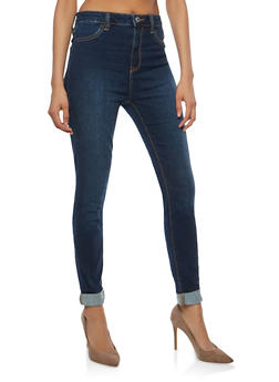 Cello High Waisted Skinny Jeans - 1074063156315