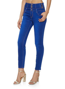 Cello Caged Push Up Jeans - 1074063156514