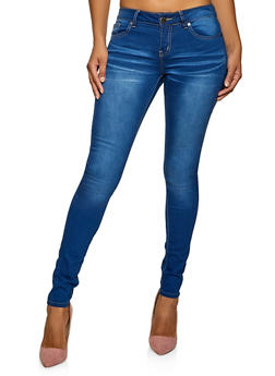 VIP Whisker Wash Skinny Jeans - 1074065300225