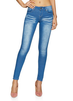 VIP Push Up Skinny Jeans with Whiskering and Stretch - 1074065300459