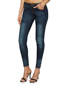 VIP Antique Whisker Wash Skinny Jeans - 1074065300583