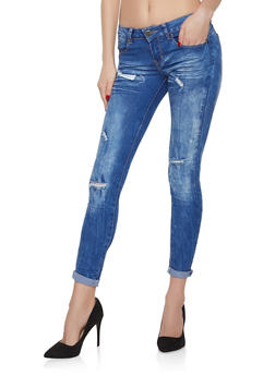 VIP Distressed Push Up Jeans - 1074065300928