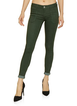 Colored Roll Cuff Pants - 1074065301050