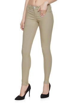 Push Up Skinny Khaki Pants - 1074065301667