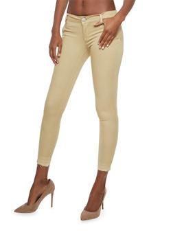 VIP Raw Hem Skinny Stretch Pants - 1074065302175